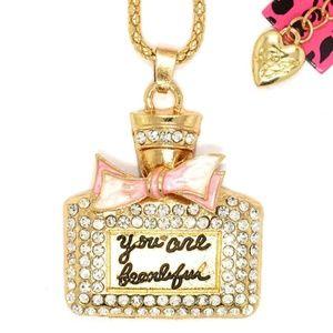 {Betsey Johnson} Perfume Bottle Pendant Necklace
